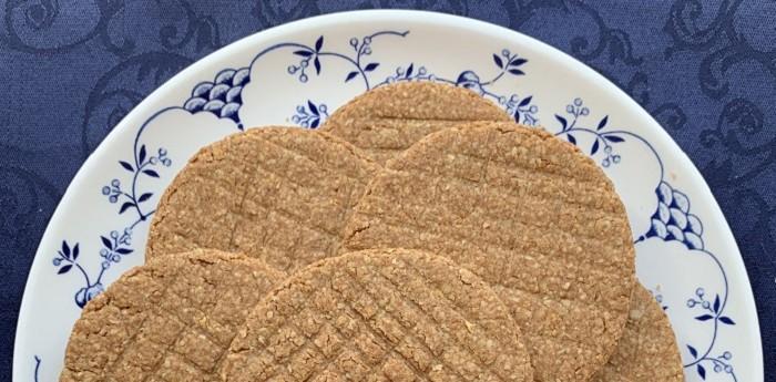 koekjes bij de thee suikervrij tarwevrij nvds